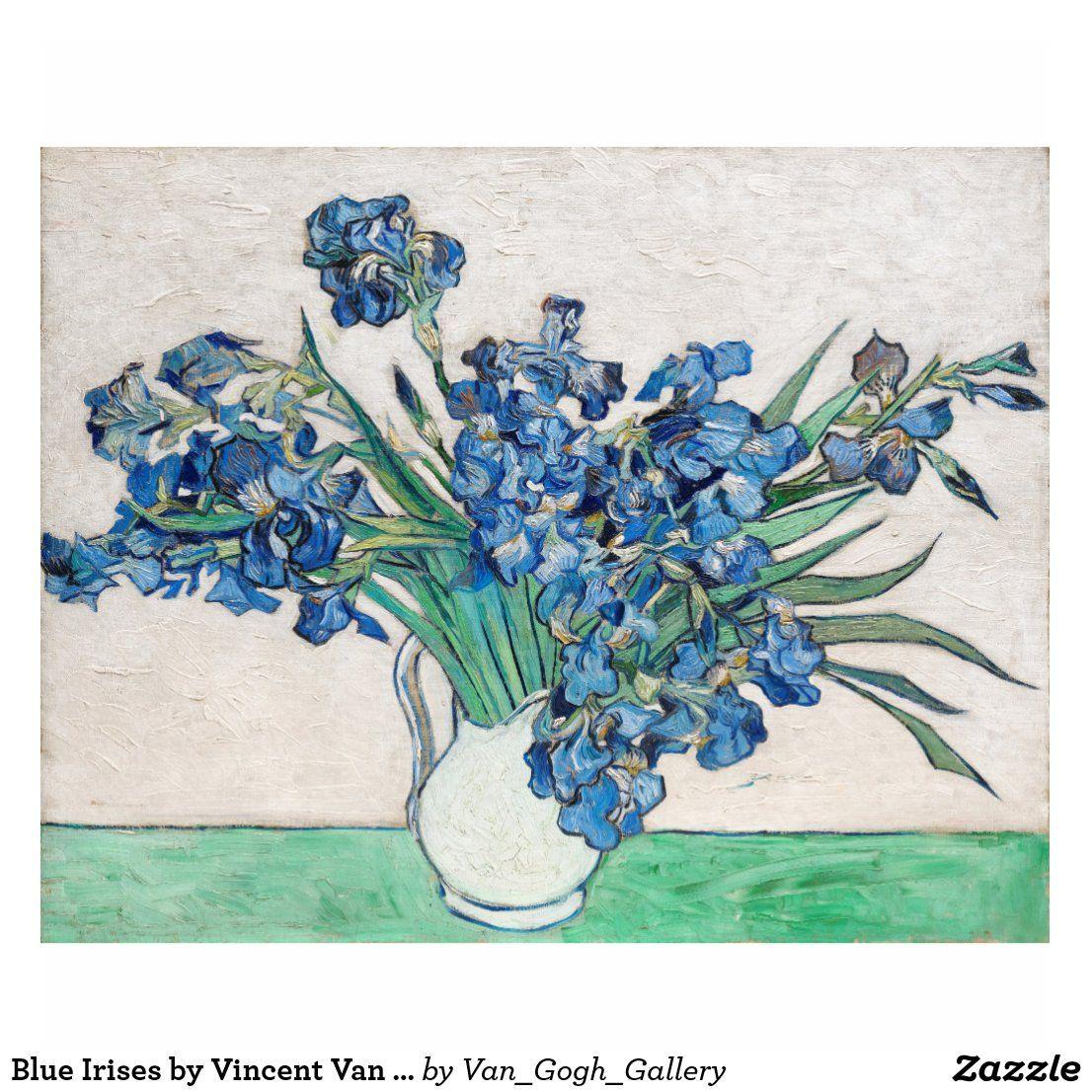 Blue irises by vincent van gogh fine art cutout zazzle