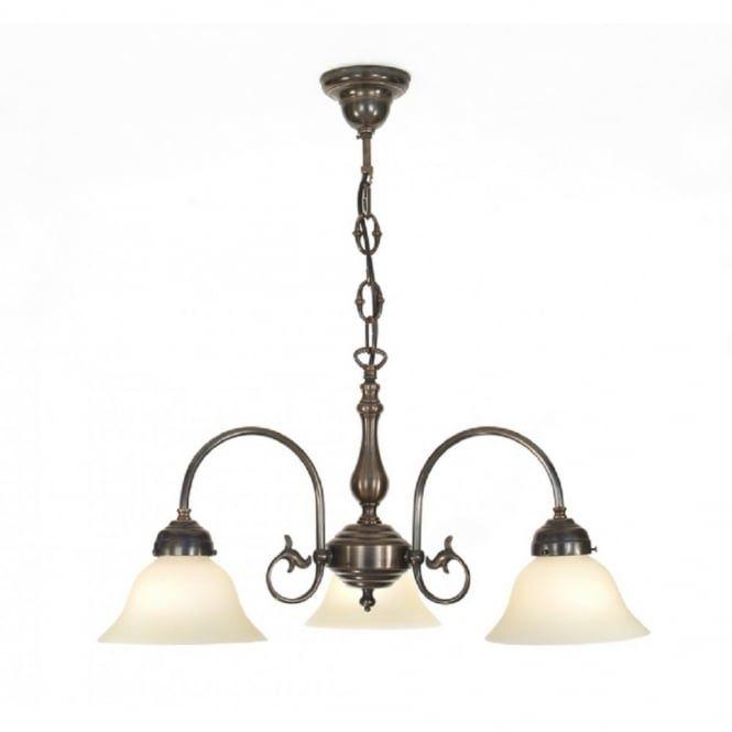 Freda 3 Light Victorian Ceiling Pendant