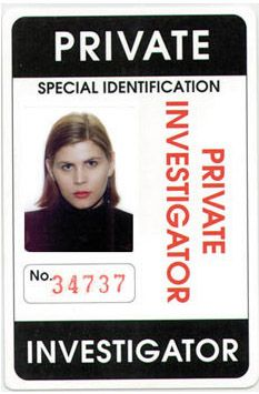 Private Investigator Identification Card Add Photo Type Personal
