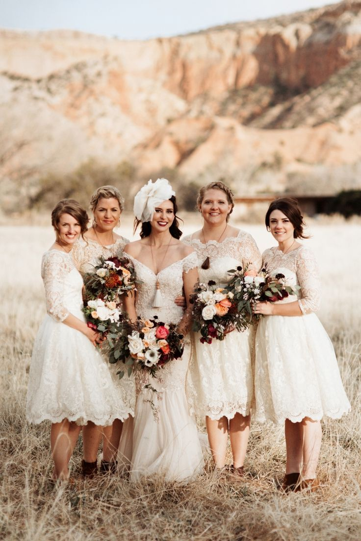 A glamorous rustic vintage wedding at ghost ranch party a glamorous rustic vintage wedding at ghost ranch lace bridesmaid dresseswhite ombrellifo Gallery