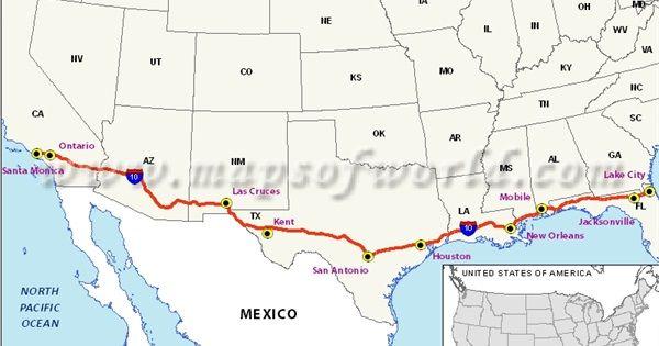 Road Trip - California to Florida   Road trip usa, Road trip ...