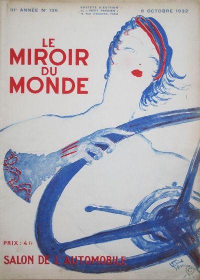 le miroir du monde salon de l 39 automobile 1932 ref adp 507. Black Bedroom Furniture Sets. Home Design Ideas