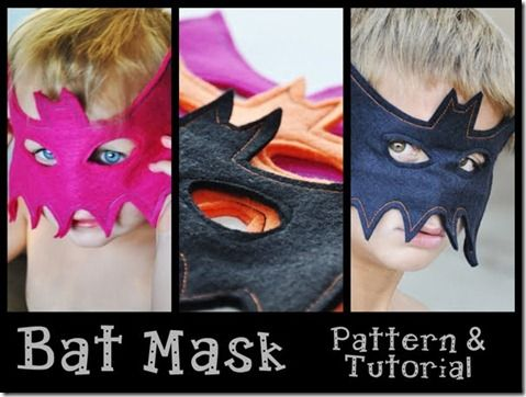 Batman mask pattern and tutorial.  Great for dress up!