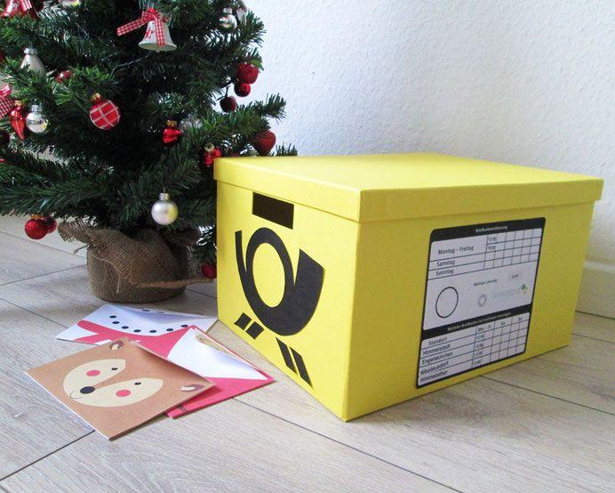 briefkasten selber bauen f r weihnachtspost co briefkasten selber basteln und ikea. Black Bedroom Furniture Sets. Home Design Ideas