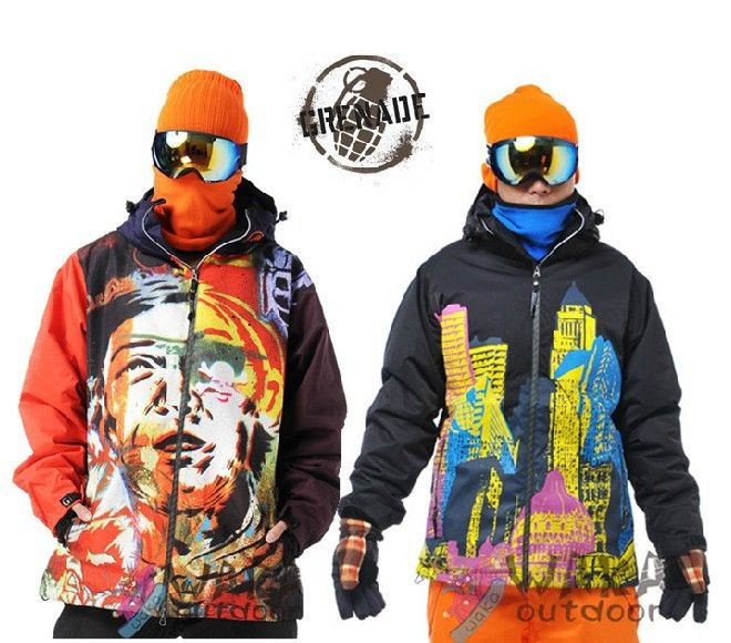 Men Skiing Jackets With Personality Patterns THICKEN Snowboard Women Jacket  Outdoor Jacket Men Waterproof Windproof 8196fd1b0