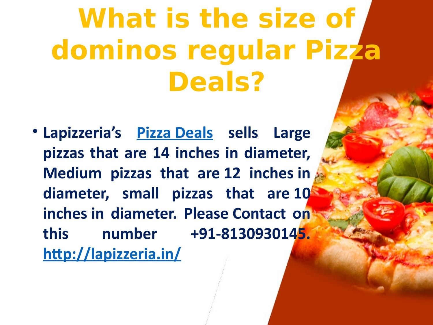 What Is The Size Of Dominos Regular Pizza Deals Regular Pizza