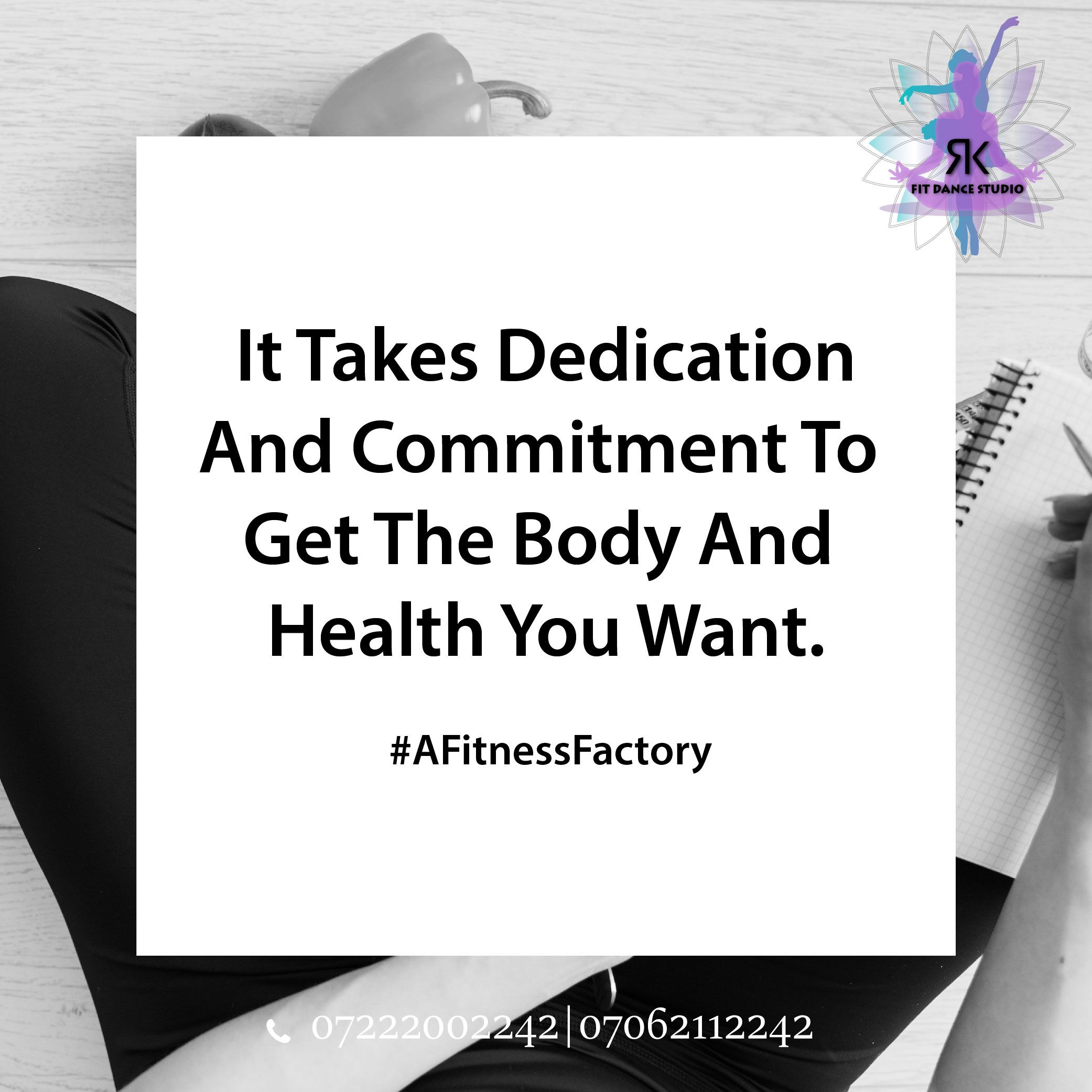 """""""It Takes Dedication And Commitment To Get The Body And Health You Want."""" So if you think that you h..."""