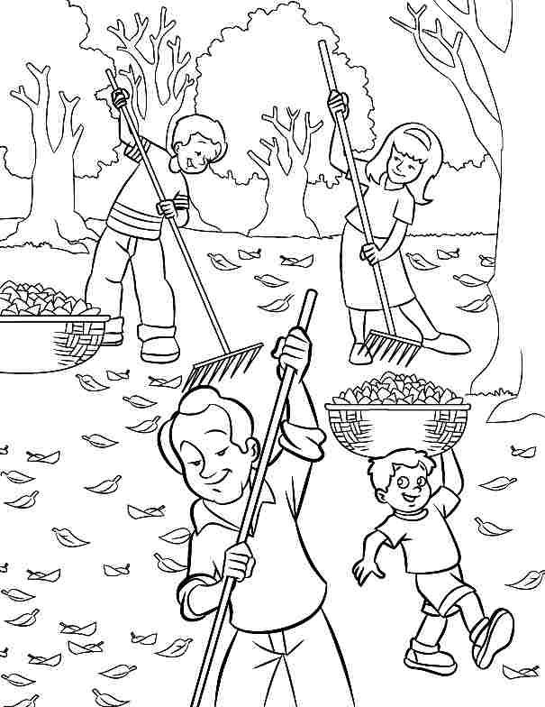 coloring pages children helping - photo#29