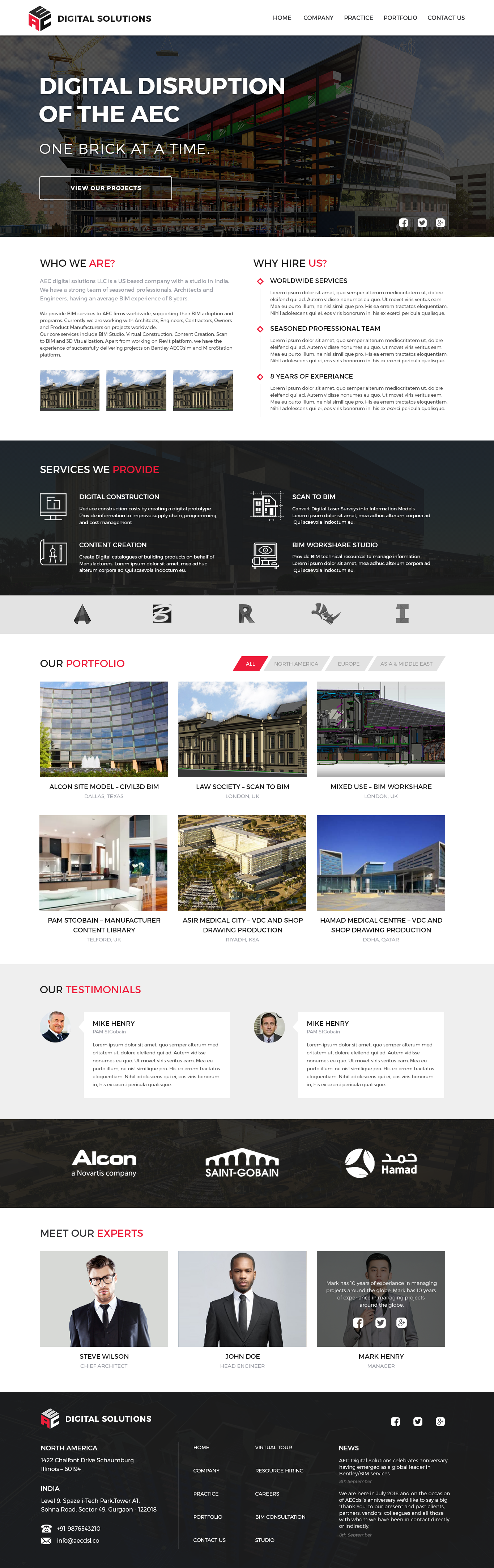 Aec Homepage Solutions Digital Challenges