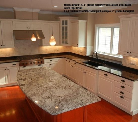 I Would Like Two Types Of Granite Kitchen Island Countertop Contemporary Kitchen Kitchen