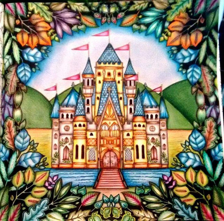 Enchanted Forest Coloring Book Castle