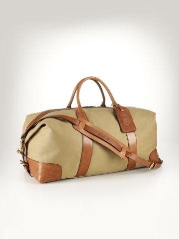 79b2e1d4d2 Canvas   Leather Weekend Bag - Polo Ralph Lauren Travel Bags - RalphLauren .com