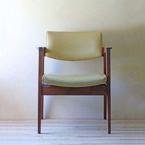 Modern Teak + vinyl chair $349 sold