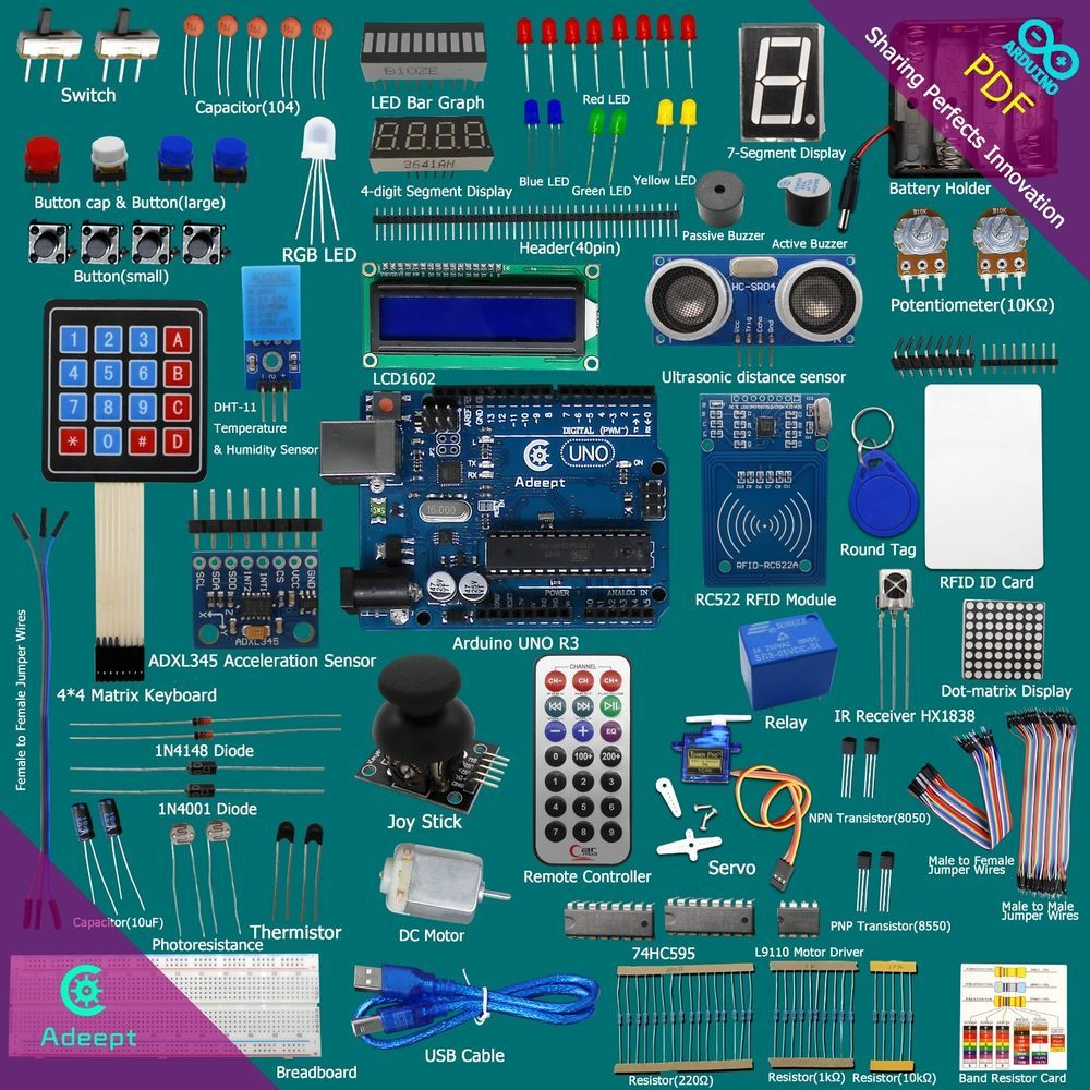 Details about new rfid starter leaning kit for arduino uno