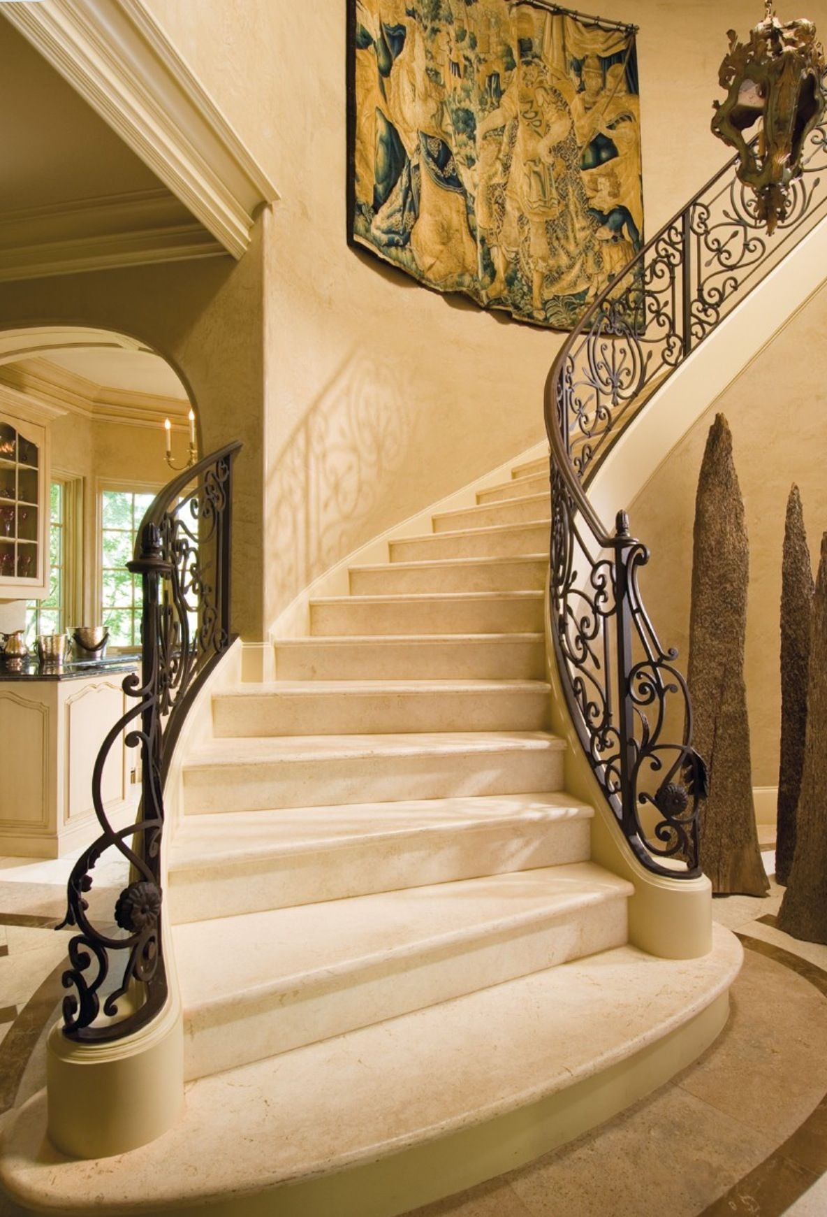 Luxury foyer entrances stairs luxurydotcom via houzz for Luxury staircases