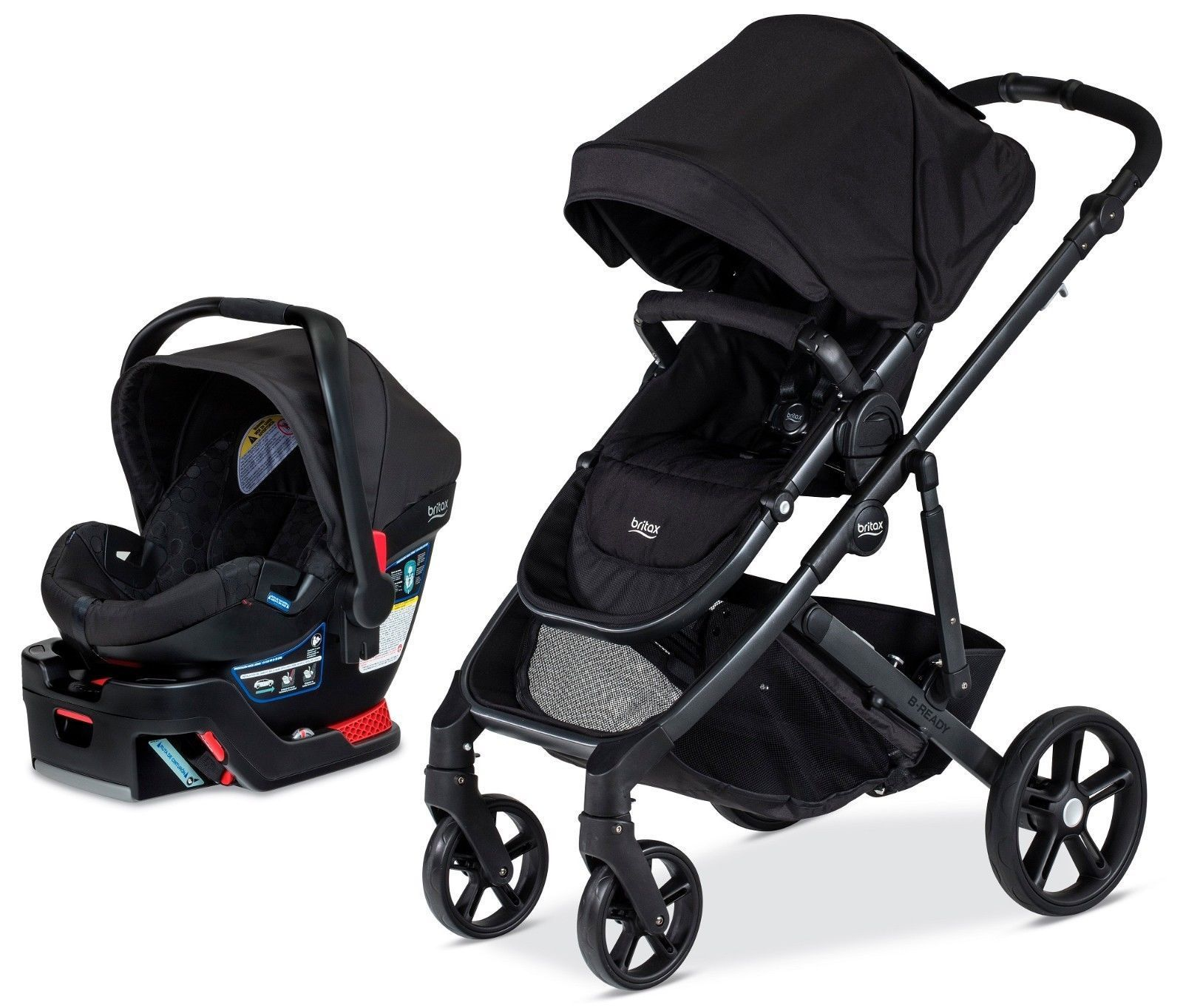 awesome Britax B Ready Travel System Baby Stroller w B Safe 35 Infant Car Seat