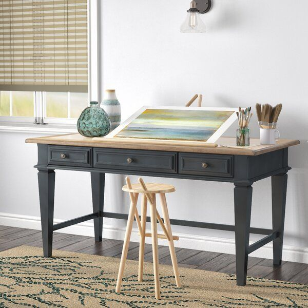 """Tate 60"""" Walnut Desk with Power Outlet in 2020 