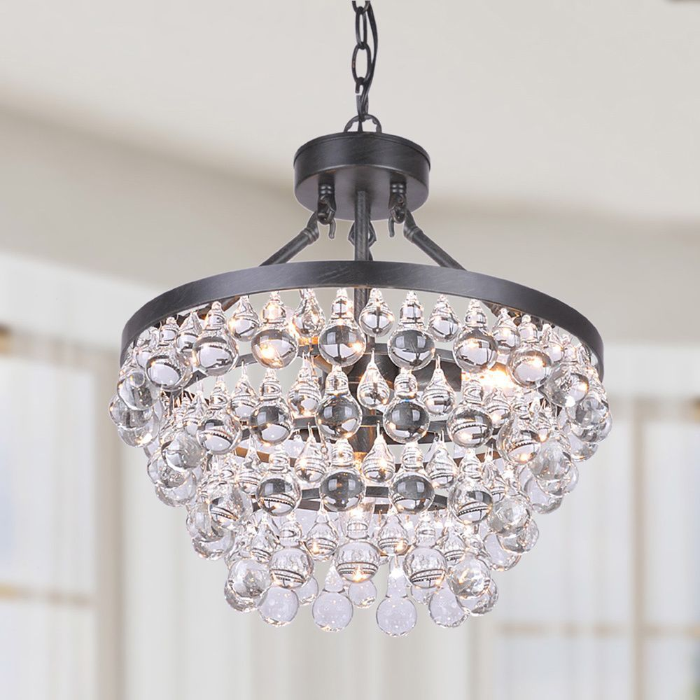 Ivana 5 light antique black luxury crystal chandelier 5 light ceiling lights for less aloadofball Image collections
