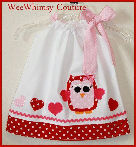 Custom NEW Super Cute Valentine Heart Applique Dress 0-3m-5t ...