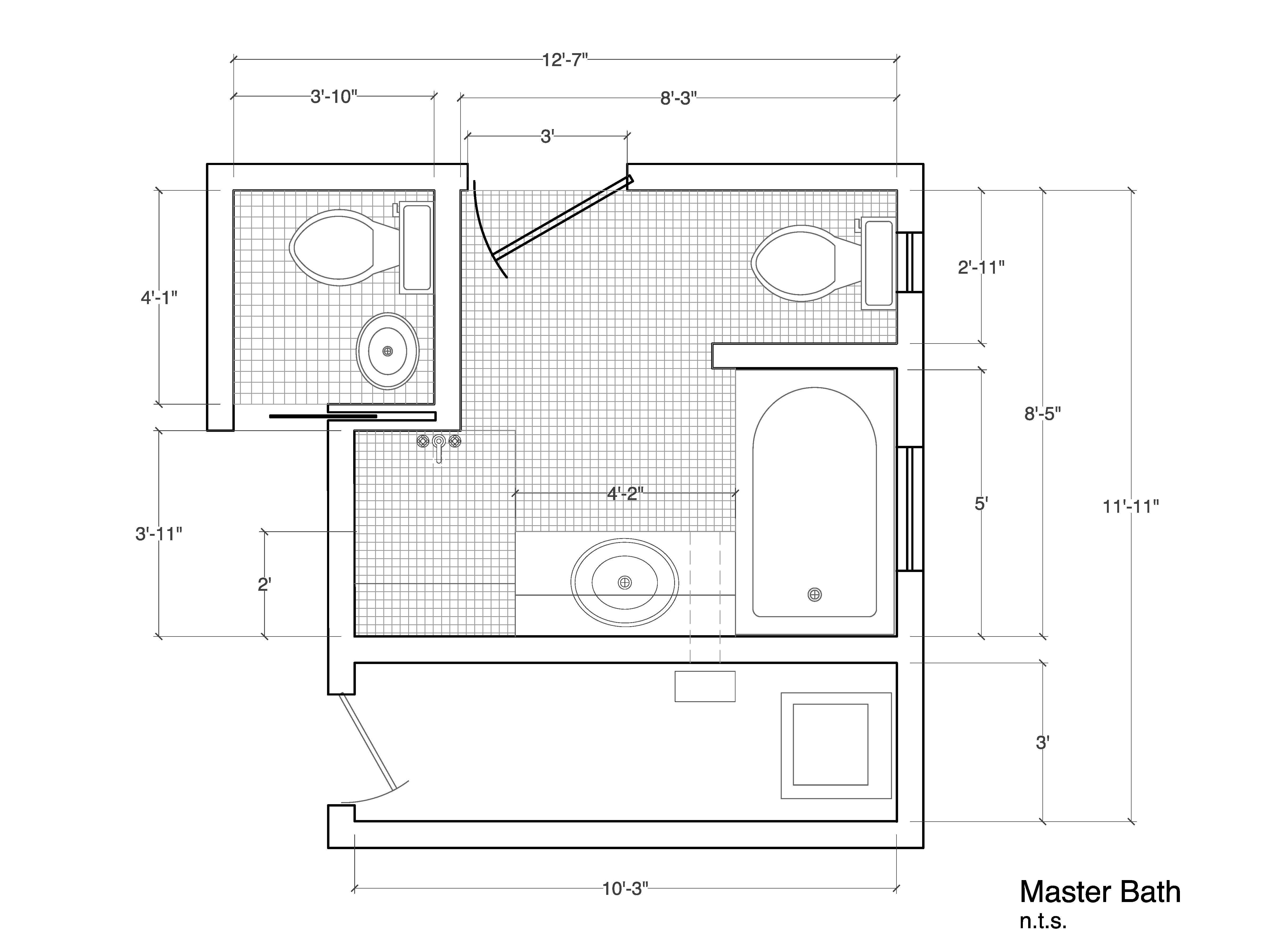 how to design bathroom floor plan  arrishomes design and