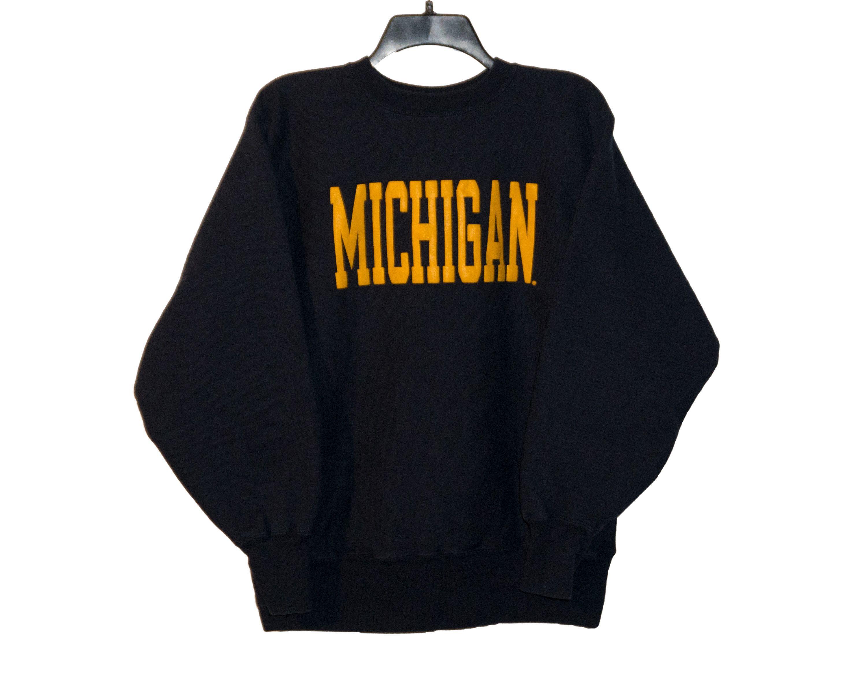 Vintage University Of Michigan Champion Reverse Weave Classic Etsy Navy Crewneck Champion Reverse Weave Michigan Sweatshirt [ 2400 x 3000 Pixel ]