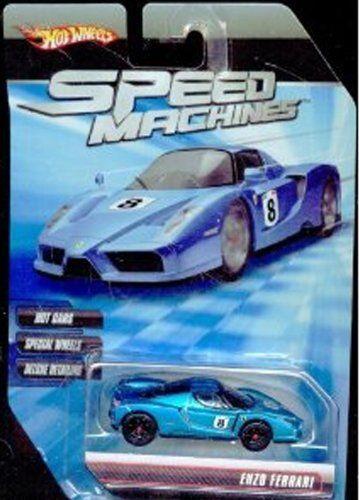Hot Wheels Speed Machines Enzo Ferrari Blue 1 64 Scale By Mattel