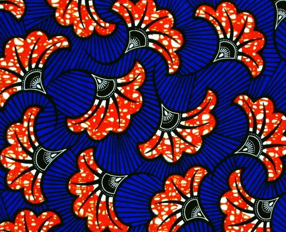 Details about  African Fabric 1/2 Yard Cotton Wax Print by kame79