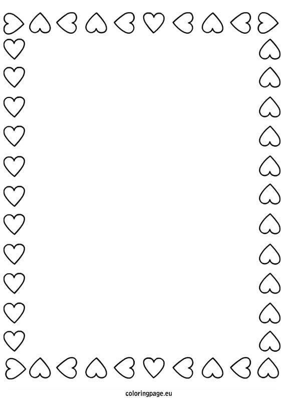 Valentine Frame Bordas Para Textos Mensagem De Boas Vindas
