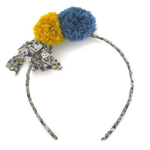 nini la duchesse hairband fitz style ribbon pompom de. Black Bedroom Furniture Sets. Home Design Ideas