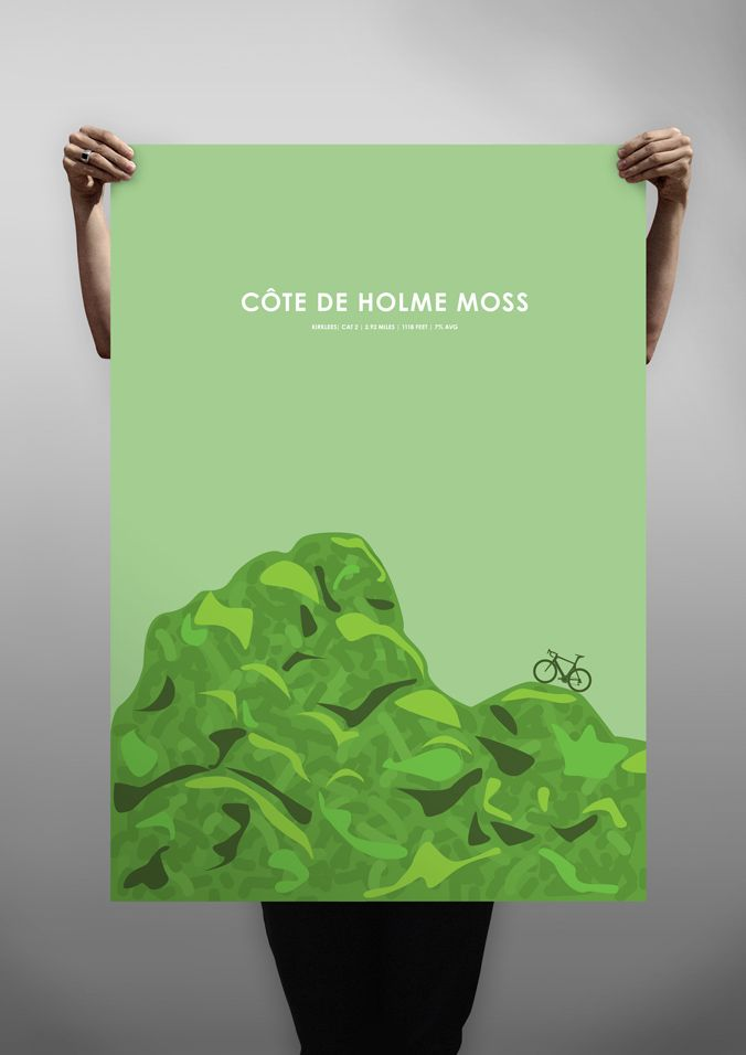 Côte de Holme Moss  limited edition cycling poster print by BML Creative  422353fb3