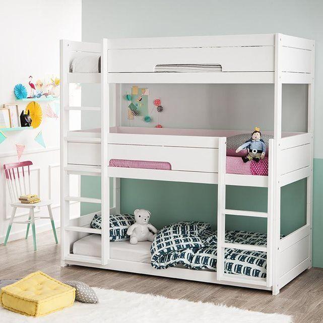 pack lit superpos 3 places hermes 3 matelas confort chambre d 39 enfants pinterest lit. Black Bedroom Furniture Sets. Home Design Ideas