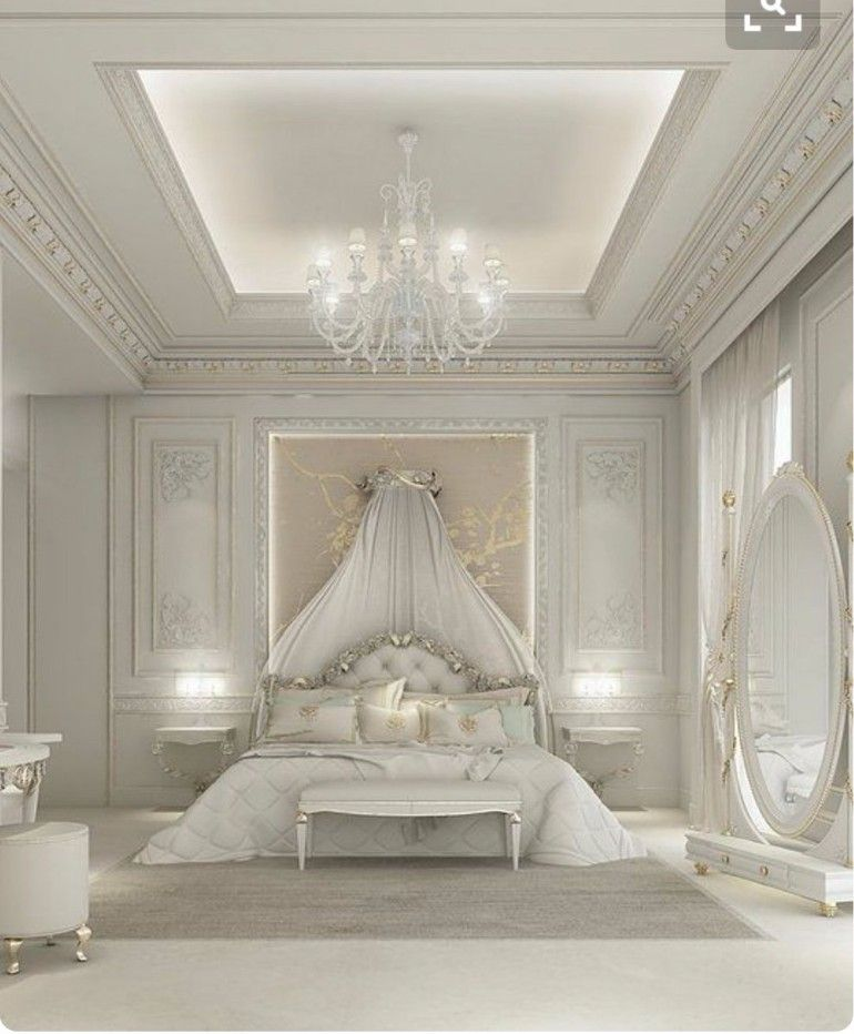 Stunning Fairytale White Bedroom Design With A Golden Touch Www Masterbedroomideas Eu Bedroomideas Goldbedrooms