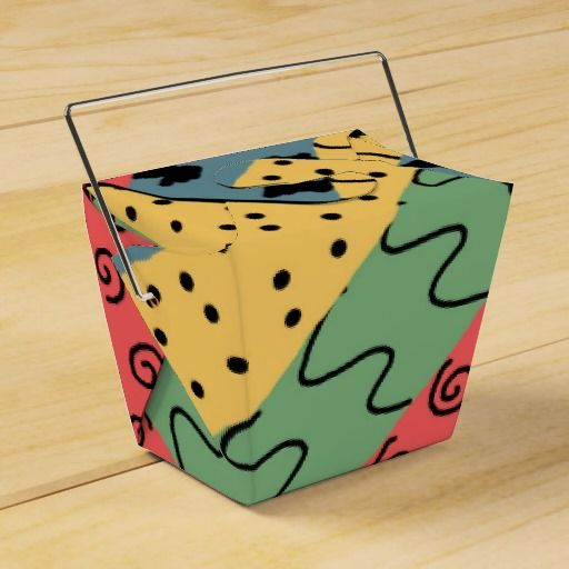 abstract favor boxes