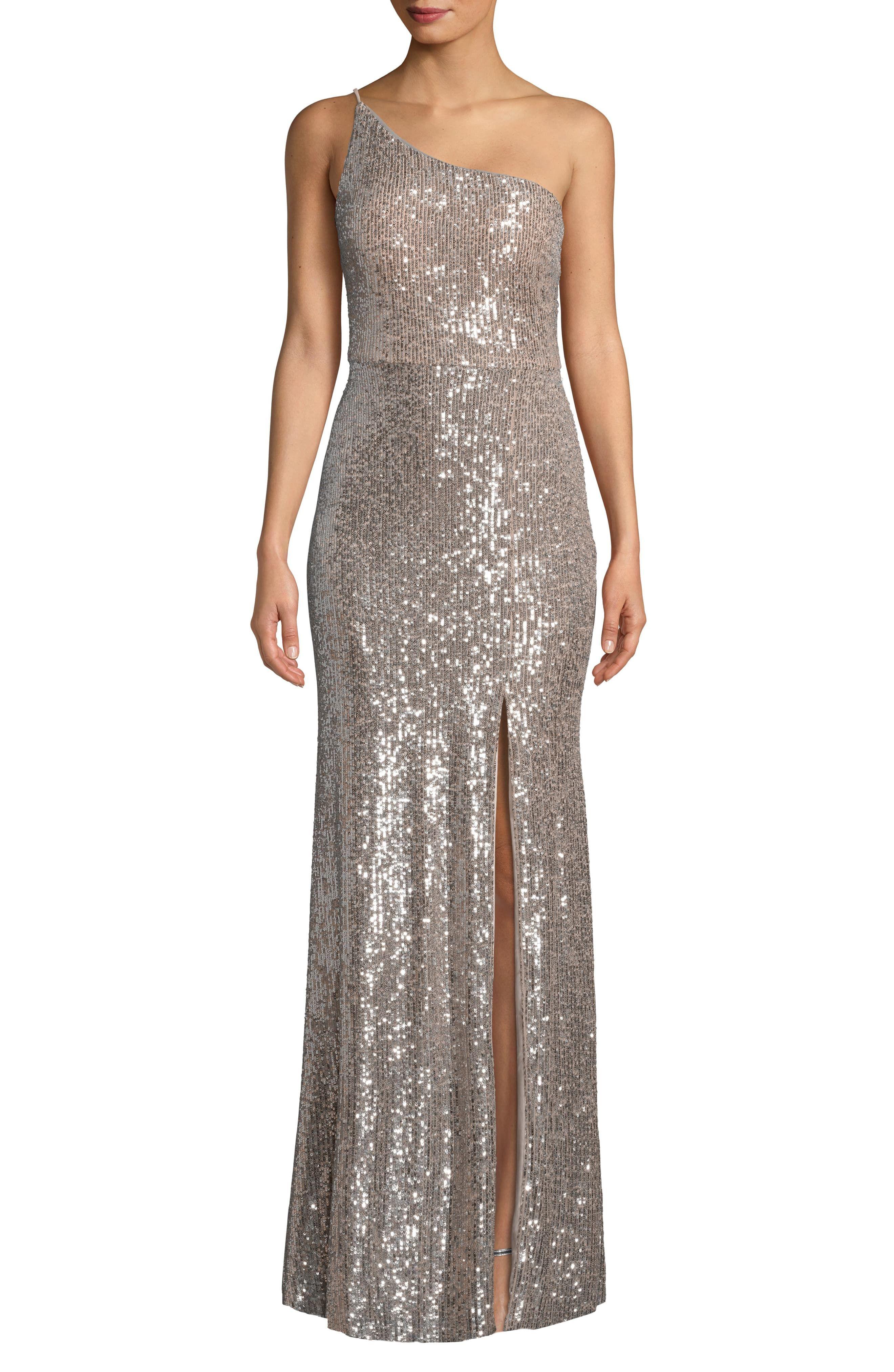 39++ One shoulder sequined dress information