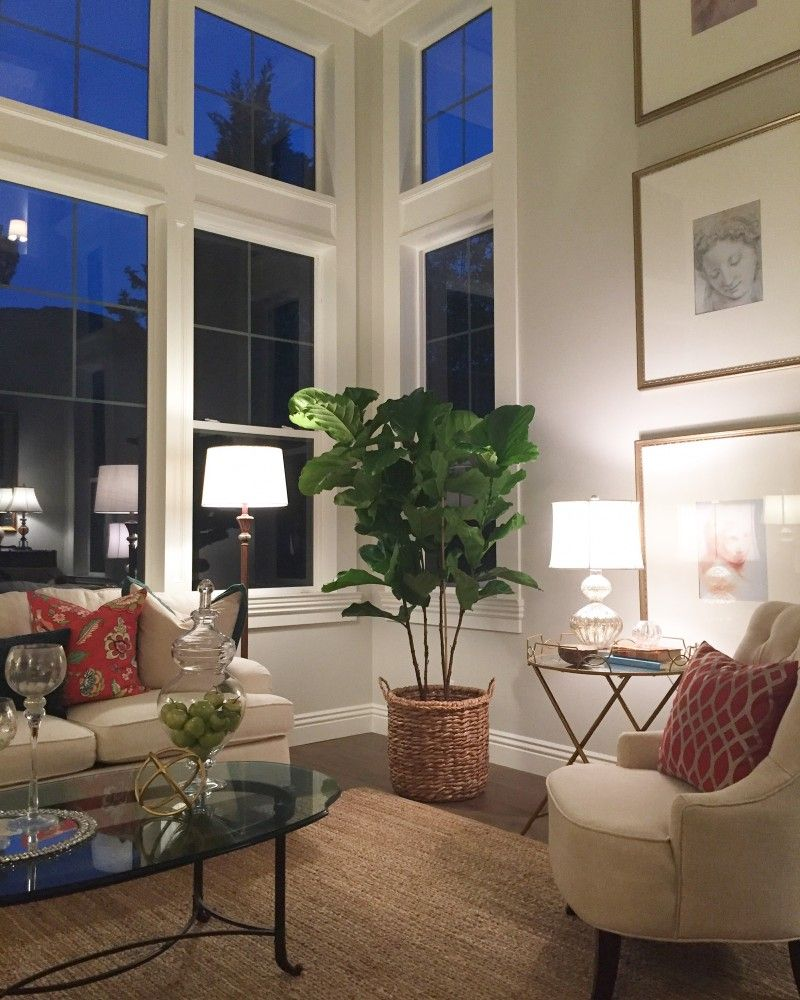A Pretty Neutral Living Room With Expansive Windows