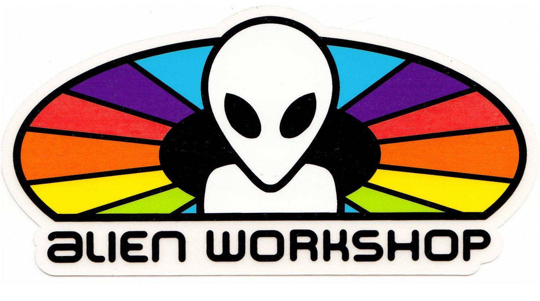 Alien Workshop Skateboards Color Spectrum Large Vintage Skateboarding STICKER