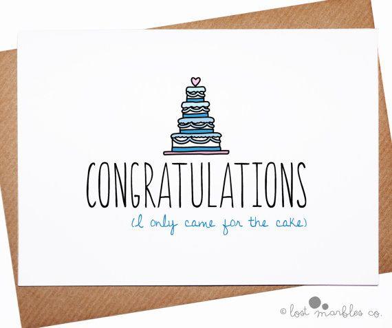 Joke Wedding Card Marriage Card Congratulations Card