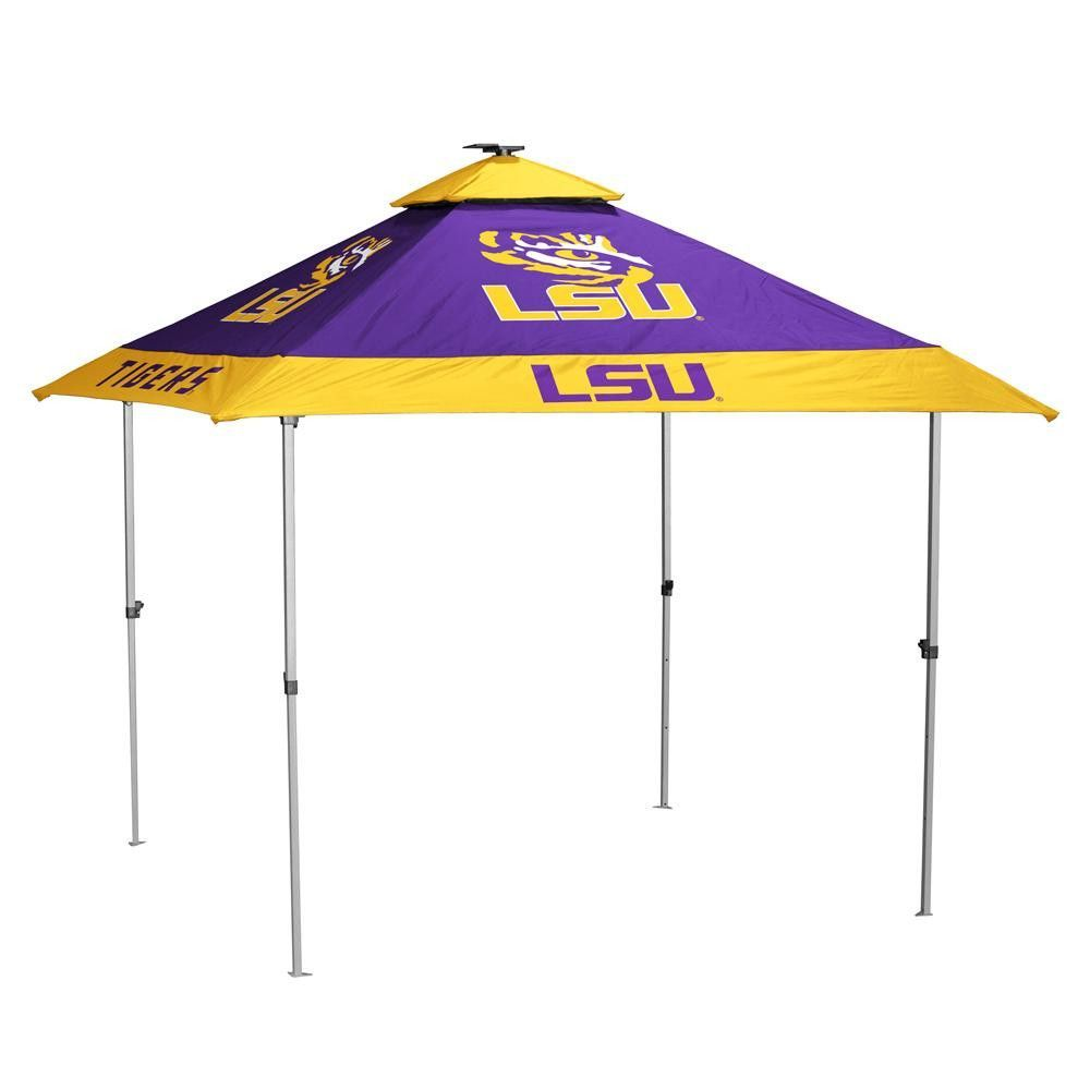 LSU Tigers NCAA - Pagoda Tent This tent boasts the most features for a pop up tent. Solo - Up technology allows a single person to set up.  sc 1 st  Pinterest & Lsu Tigers Ncaa One Person Easy Up Pagoda Tent | Products ...