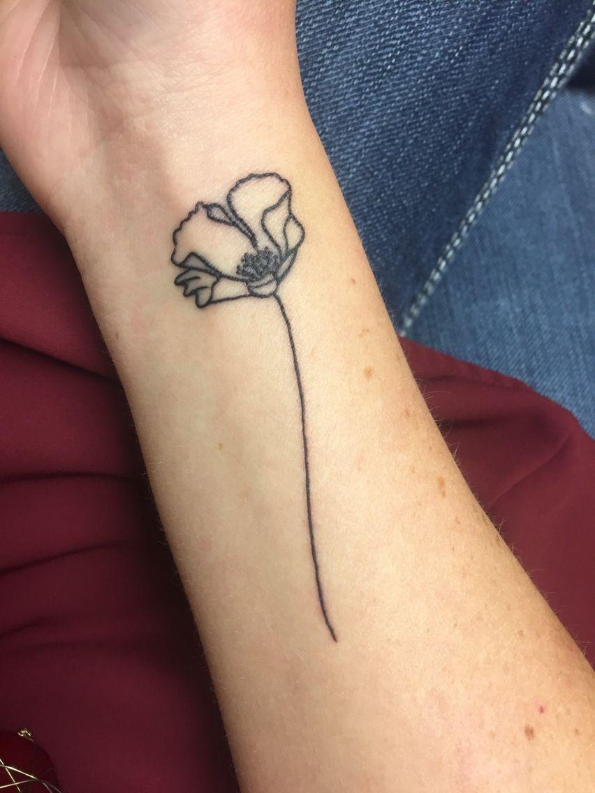 Poppy flower tattoo for august birthdays tats pinterest poppy flower tattoo for august birthdays mightylinksfo