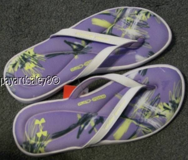 Womens Size 9 Under Armour Flip-Flops Thongs Jandals -7224