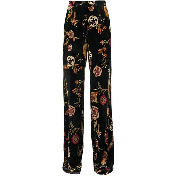 Sale Wiki printed wide leg trousers - Black Etro New Styles Cheap Online Amazon Cheap Sale Best Prices 56fbuNjScG