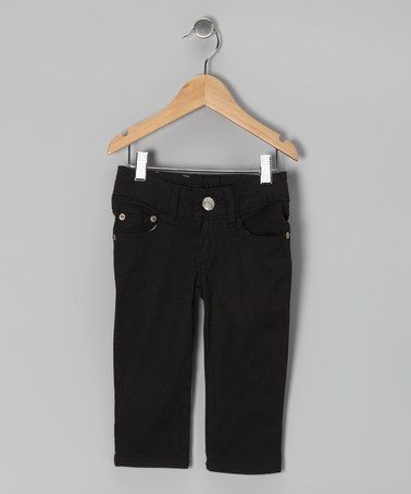 Take a look at this Black Denim Capri Pants - Girls by Miss Fit Denim on #zulily today!