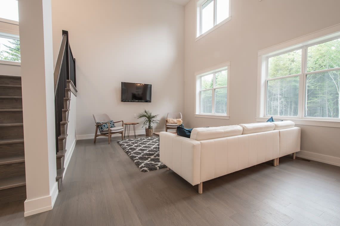 white paint and natural light brings energy to any space