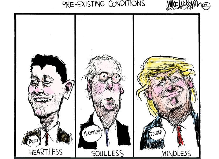 Political Cartoon U.S. Mitch McConnell Paul Ryan Trump Pre ...