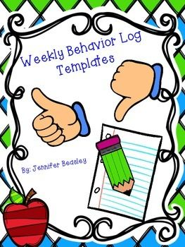I Have Created Five Different Behavior Log Templates These