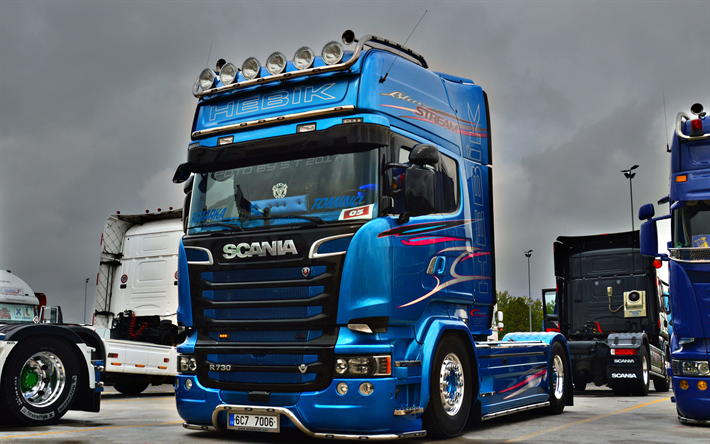 Download Wallpapers Scania R730 Tuning Tractor Trucks