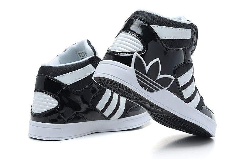 white adidas shoes high tops