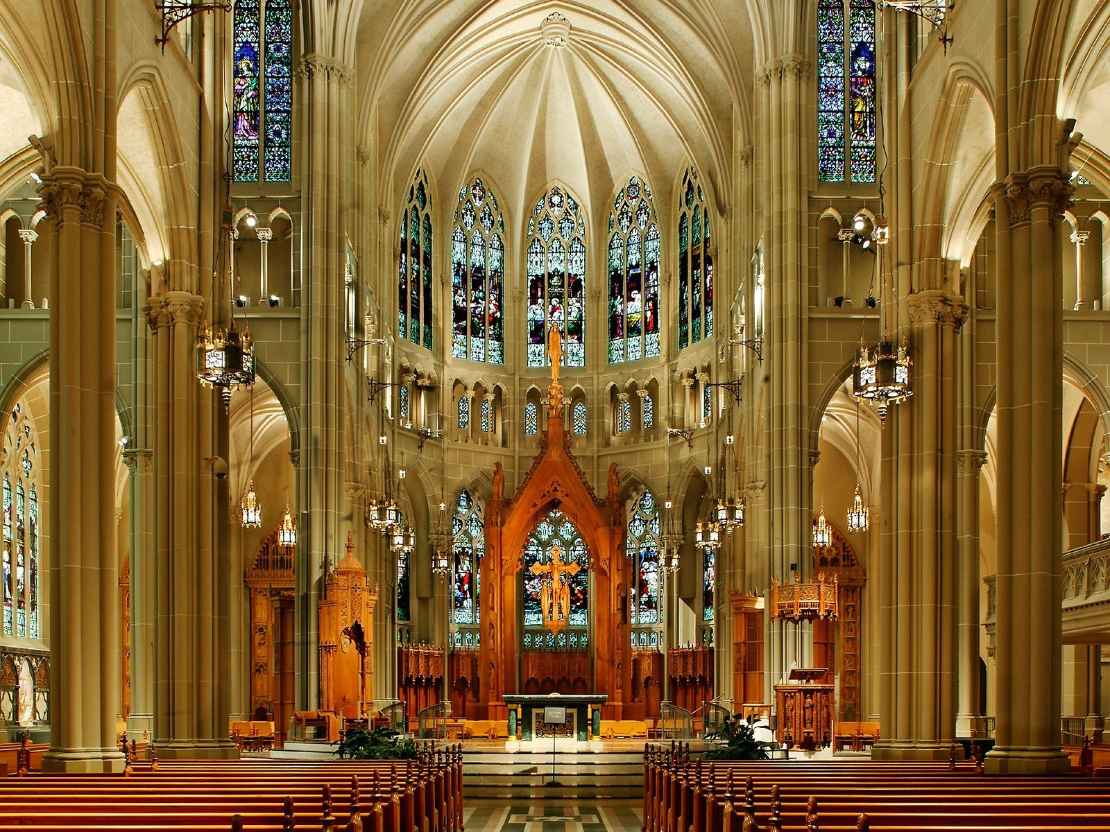 Kentucky | St. Mary's Catholic Basilica Cathedral in Covington, KY - Inside view from your Trinity Stores crew.