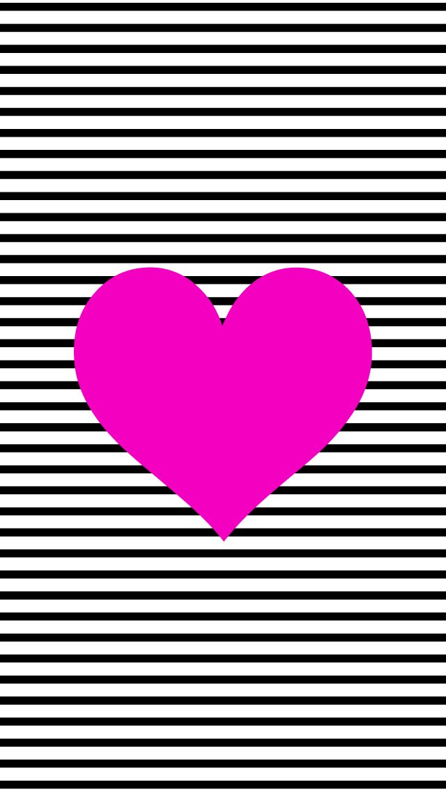 black and white stripe heart craftswallpapersprojects