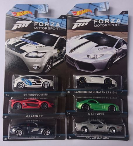 6 Car Set Hot Wheels Forza Motorsport Series Mclaren P1 Bmw M4